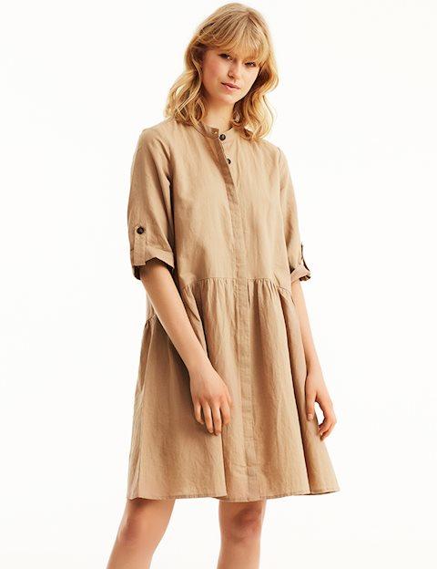 d5d6bc97001d Shop Albana Dress - Beige - mbyM