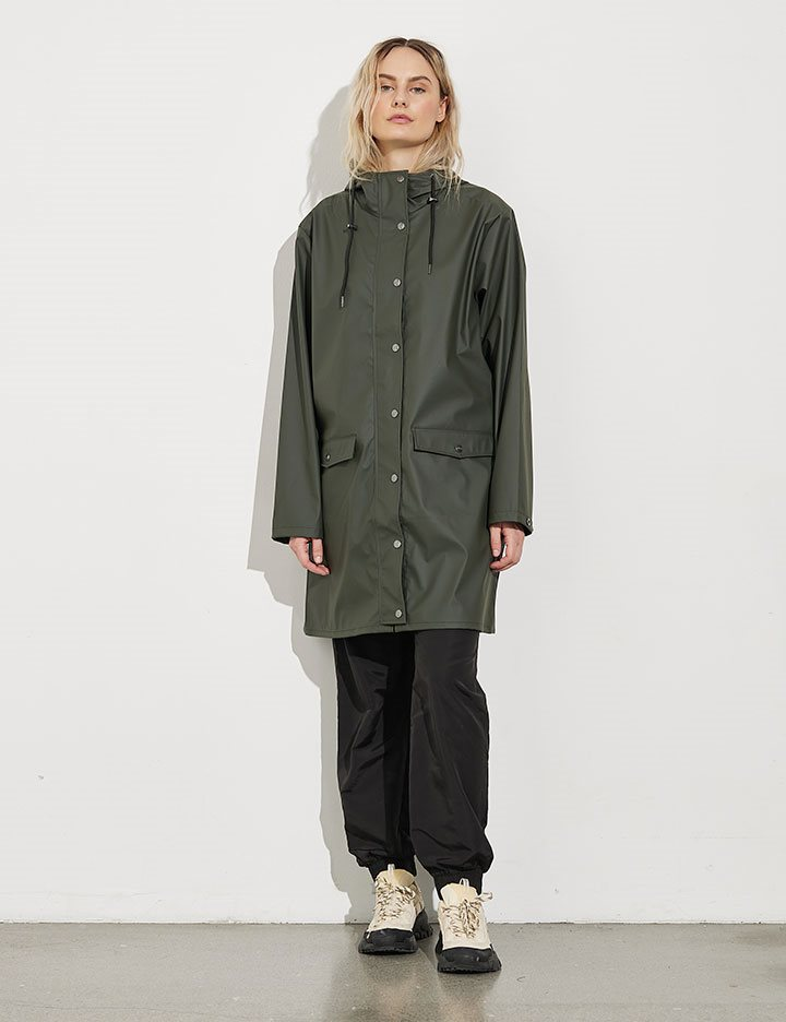 62206ed7 Shop Fabiola Festival Raincoat - Army - mbyM