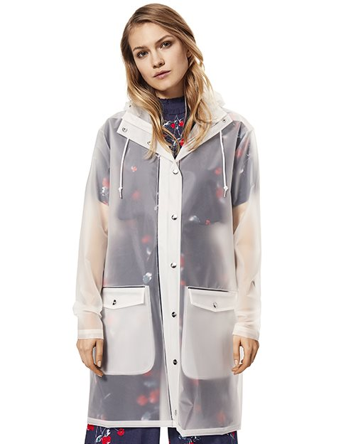complete in specifications search for authentic limited quantity Fabiola Raincoat - White