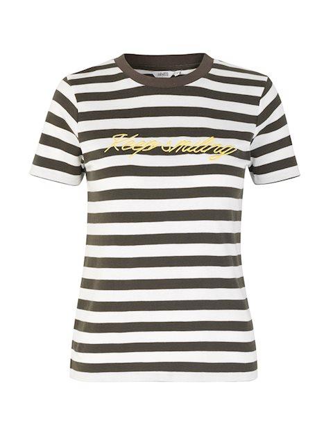 a3ff0d9c Kjøp Oui Contrast T-skjorte - Grønn - mbyM